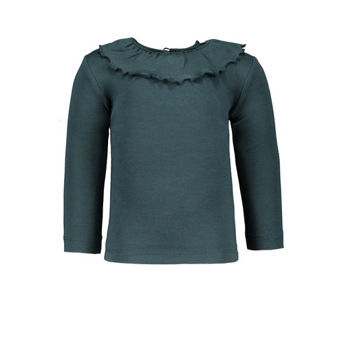 PEXI LEXI Tee ruffle Forest green