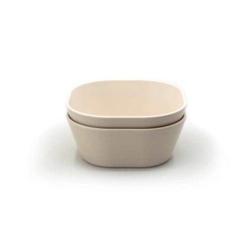 mushie Bowl square ivory set van 2