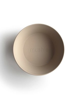 mushie Bowl round set van 2 vanilia
