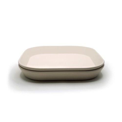 mushie Plates square ivory set van 2