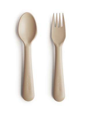 mushie Bestek fork spoon vanilla