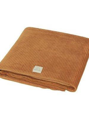 Nanami Junior deken ribvelvet zand