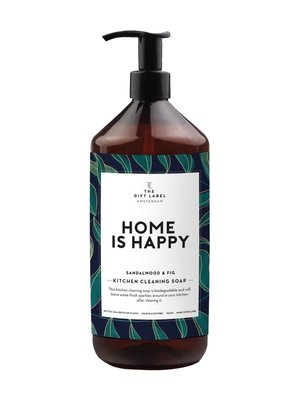 The gift label Kitchen cleaning soap - Home is happy
