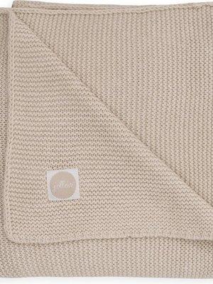 Jollein Ledikant deken 100x150cm Basic knit nougat