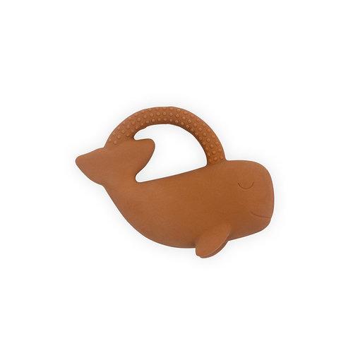Jollein Bijtring rubber Whale caramel
