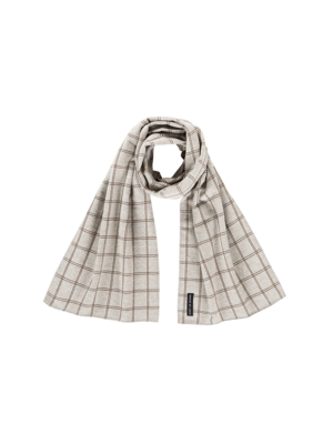 House of Jamie Long scarf tartan stone 30 x 145cm