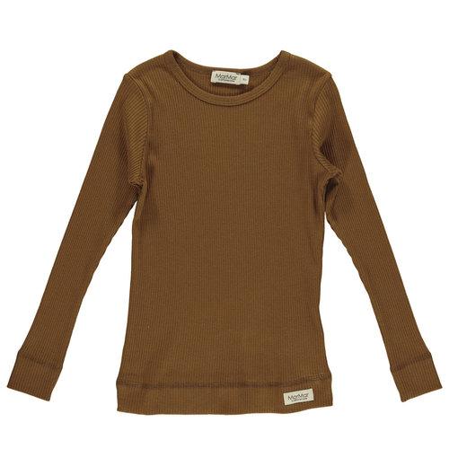 MarMAr CPH Longsleeve  plain tee leather