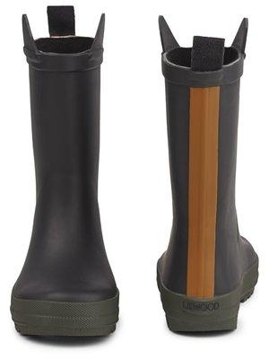 Liewood River rainboot  Black/hunter mix