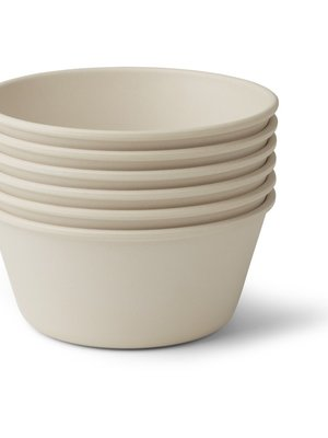 Liewood Greta bamboo bowl 6-pack  holiday multimix