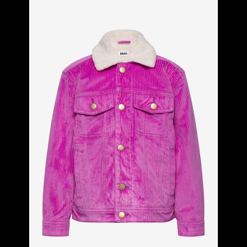 Hen truckerjacket rib paars/roze