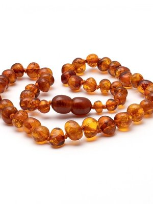 Amber BAROQUE AMBER TEETHING brown 38 cm