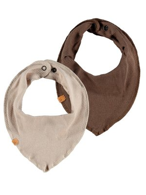 Lil' Atelier BIB SCARF 2 PACK dark earth