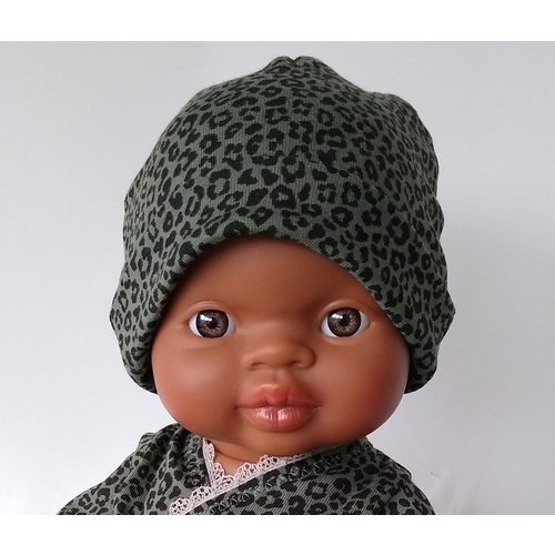 Kiaora - doll design Beanie leopard green
