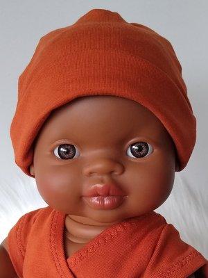Kiaora - doll design Beanie brique