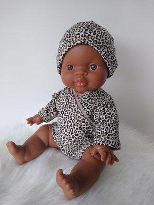 Kiaora - doll design Beanie leopard sand