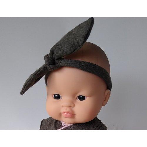 Kiaora - doll design Haarbandje chocolate