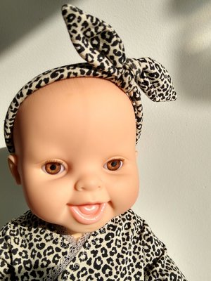 Kiaora - doll design Haarbandje leopard sand