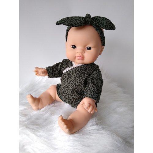 Kiaora - doll design Romper leopard green