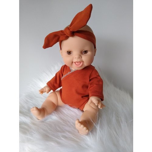 Kiaora - doll design Romper brique