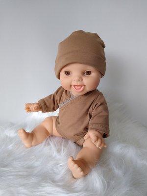 Kiaora - doll design Romper camel