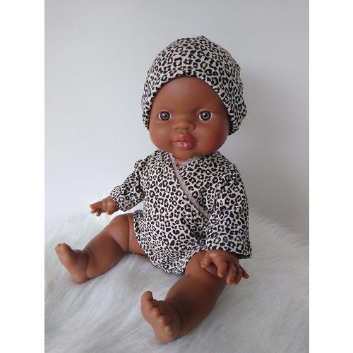 Kiaora - doll design Romper leopard sand