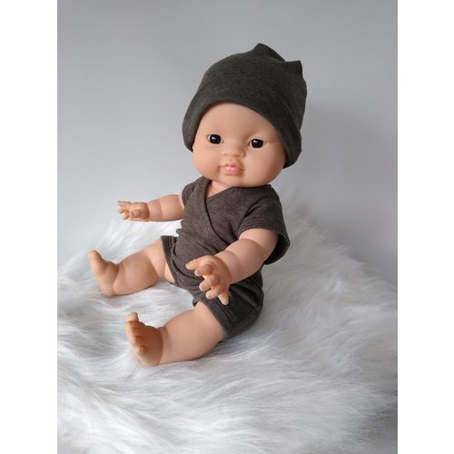 Kiaora - doll design Jongensromper chocolat