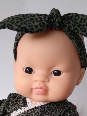 Kiaora - doll design Haarbandje leopard green