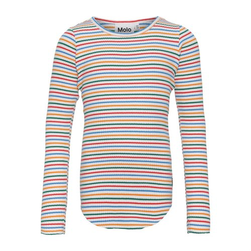 Molo Rochelle finerainbow stripe longsleeve