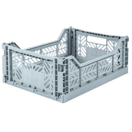 Folding Crate Midi pale blue