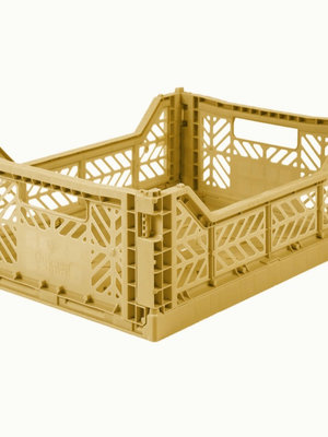 Aykasa Folding Crate Midi  gold