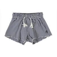 Nicci navy stripe broekje