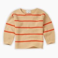 Knit sweater orange stripe