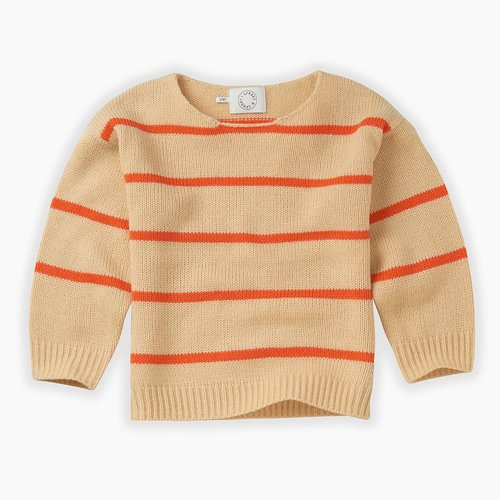 Sproet&Sprout Knit sweater orange stripe