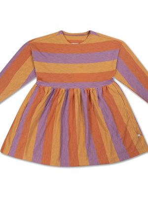 Repose AMS Simple dress ss peachy lavender block stripe