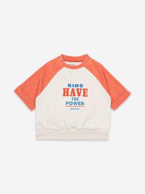 Bobo choses Kids Have The Power Short Sleeve Sweatshirt 121AC045