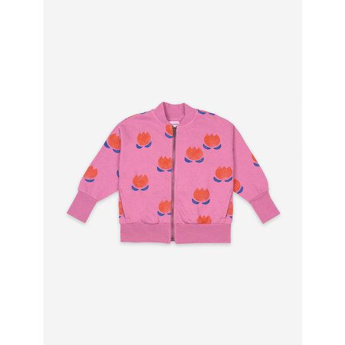 Bobo choses Chocolate Flower All Over Zipped Sweatshirt 121AC042