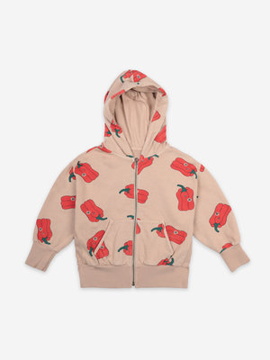 Bobo choses Vote For Pepper All Over Zipped Hoodie 121AC161