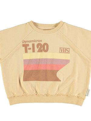 piupiuchick Sleeveless sweatshirt | sand w/ multicolor print