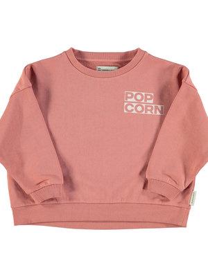 "piupiuchick Unisex sweatshirt | pink w/ ""popcorn"" print"