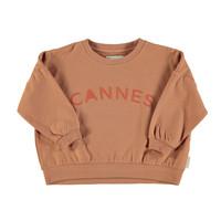 "Unisex sweatshirt | nut w/ ""cannes"" print"