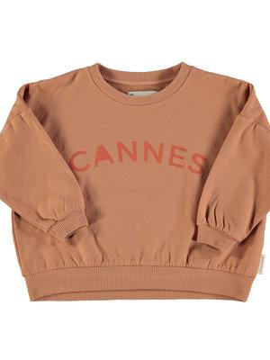 "piupiuchick Unisex sweatshirt | nut w/ ""cannes"" print"