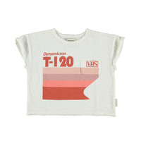 T-shirt   off-white w/ multicolor print