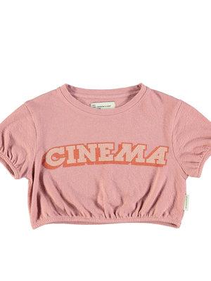 piupiuchick Girl t'shirt ballon | vintage pink w/ print