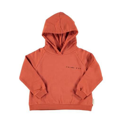 piupiuchick Hooded sweatshirt garnet w/ print