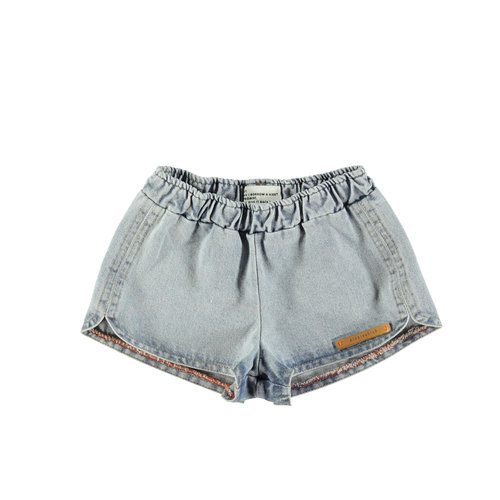 piupiuchick Runner shorts | washed blue jeans