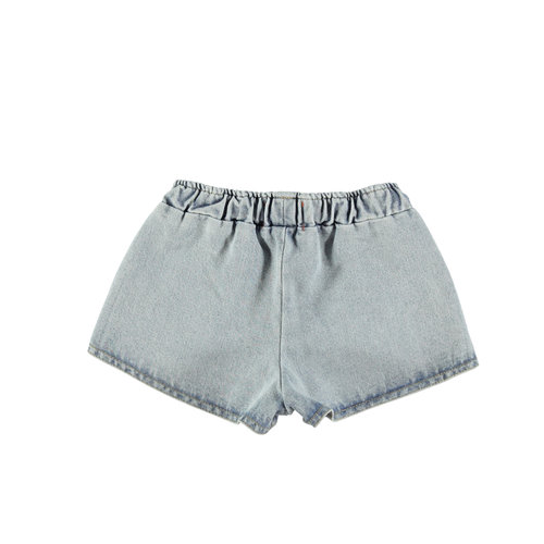 piupiuchick Runner shorts   washed blue jeans