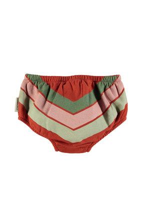 piupiuchick High waisted shorties | garnet w/ tricolor print