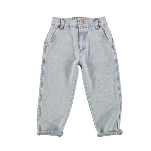 piupiuchick Unisex trousers | light blue washed denim