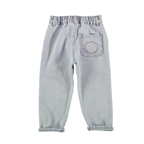 piupiuchick Unisex trousers   light blue washed denim