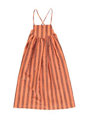 piupiuchick Long balloon dress | orangeade w/ stripes |